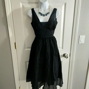 Banana republic black midi dress size 2